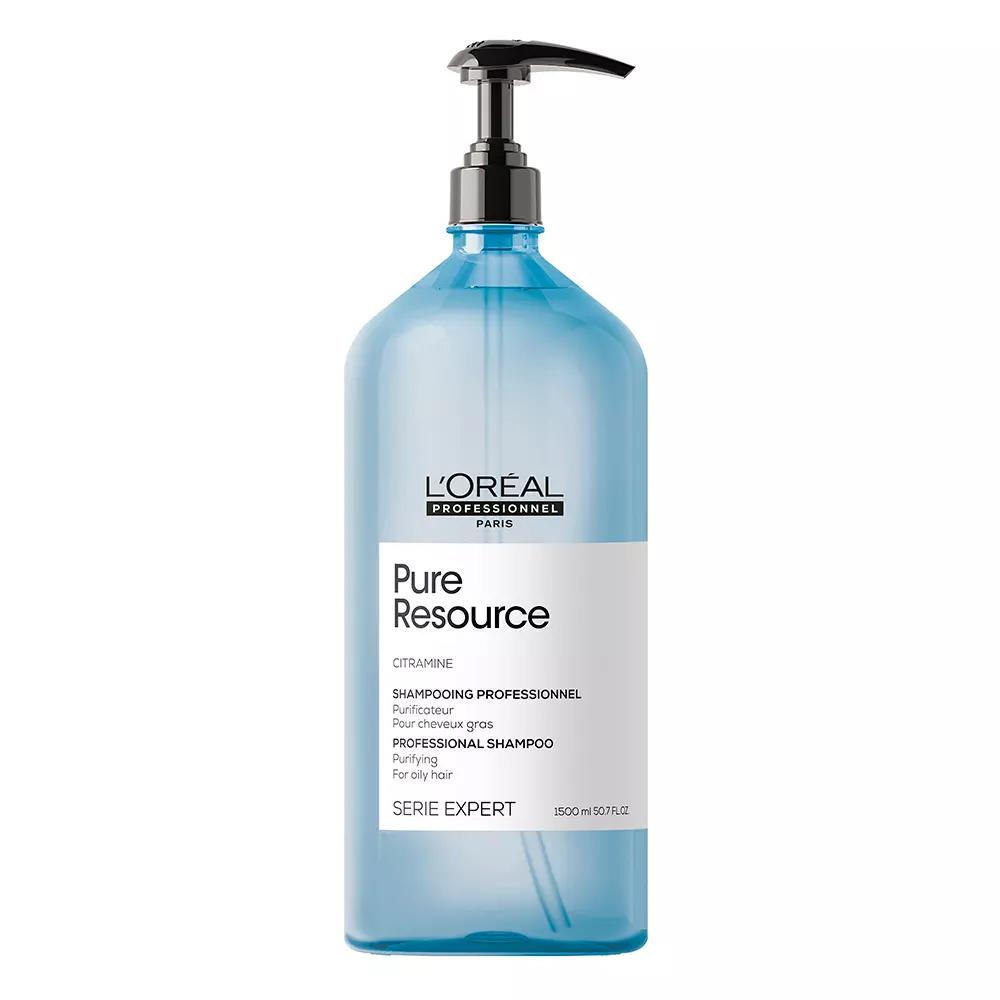Купить Loreal Professionnel Глубоко очищающий шампунь Serie Expert Pure Resource для волос, склонных к жирности, 1500 мл (Loreal Professionnel, Serie Expert), Франция