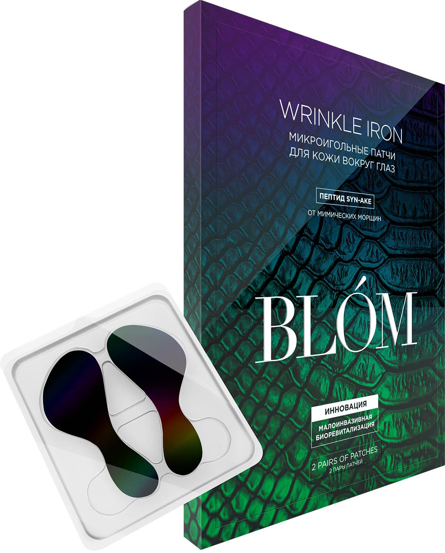Купить Blom Патчи микроигольные от мимических морщин Wrinkle Iron, 2 пары (Blom, Wrinkle Iron)