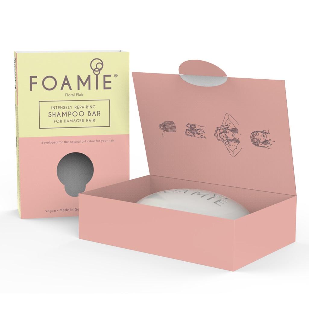 Купить Foamie Твердый шампунь Floral Flair для поврежденных волос, 108 г (Foamie, Шампуни)