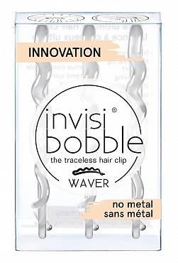 Купить Invisibobble Заколка для волос Crystal Clear one, 3 шт (Invisibobble, Waver), Великобритания