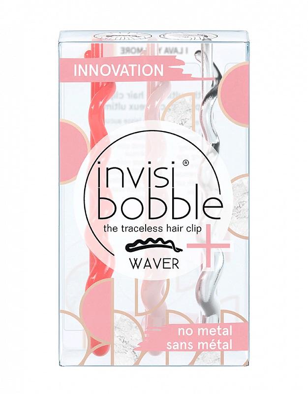 Купить Invisibobble Заколка для волос I Lava You More, с подвесом, 3 шт (Invisibobble, Waver), Великобритания