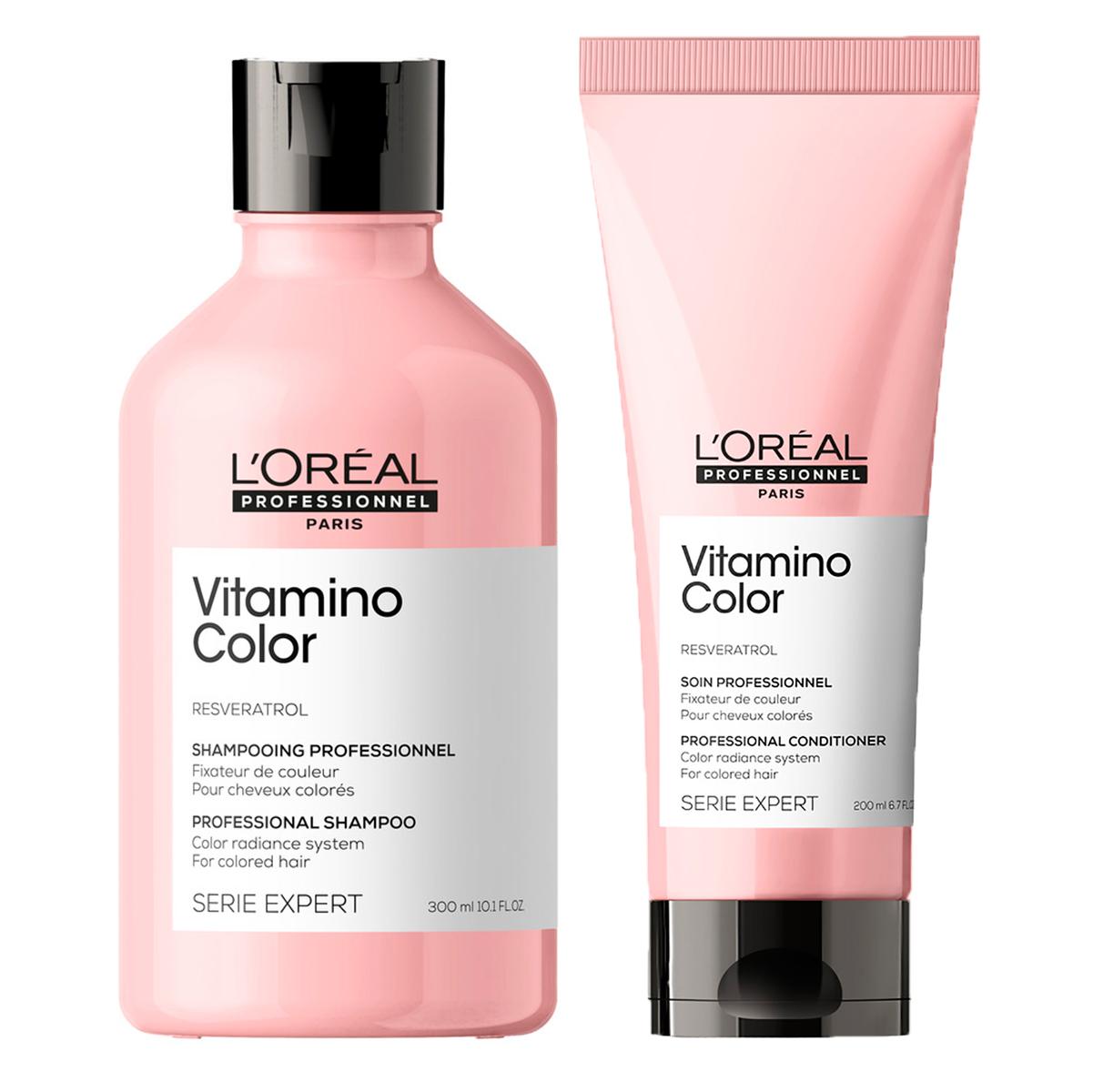 Купить Loreal Professionnel Набор Vitamino Color: Шампунь, 300 мл + Кондиционер, 200 мл (Loreal Professionnel, Serie Expert), Франция