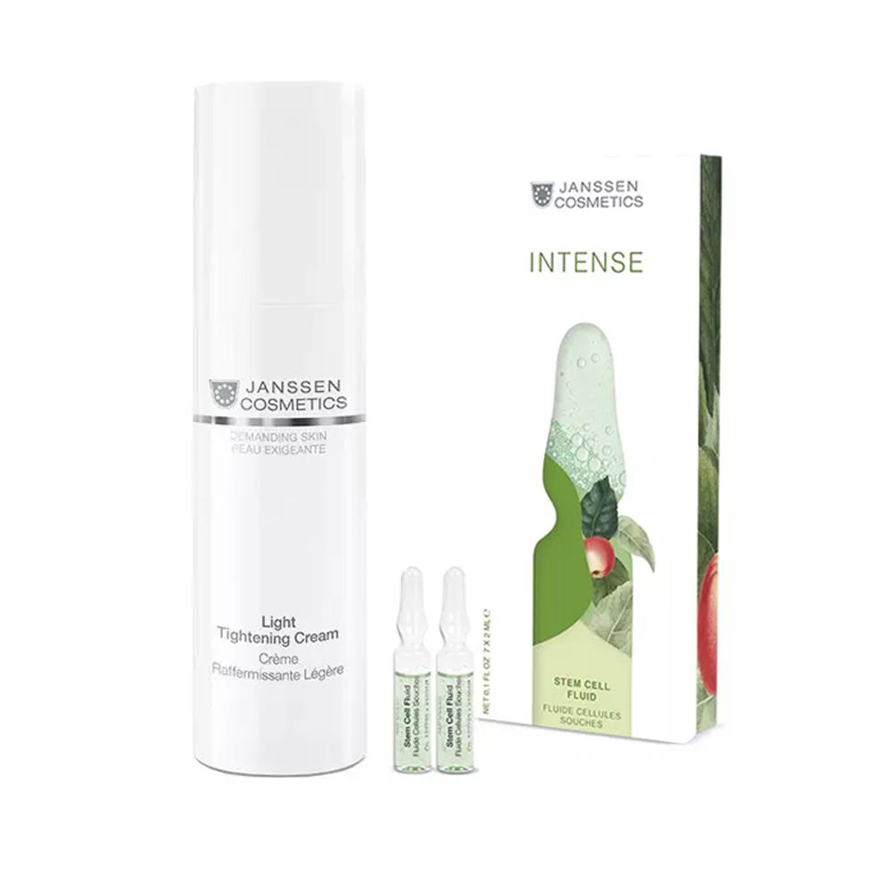 Купить Janssen Cosmetics Набор Интенсивное увлажнение : крем 50 мл + сыворотка в ампулах 2 мл х7шт (Janssen Cosmetics, Demanding Skin), Германия