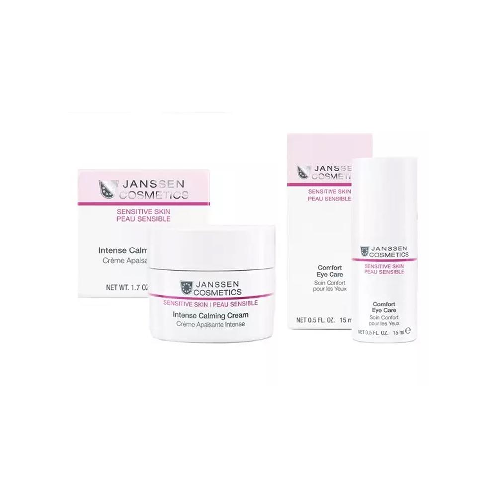 Купить Janssen Cosmetics Набор Интенсивная защита и питание чувствительной кожи : крем 50 мл + крем для кожи вокруг глаз 15 мл (Janssen Cosmetics, Sensitive Skin), Германия