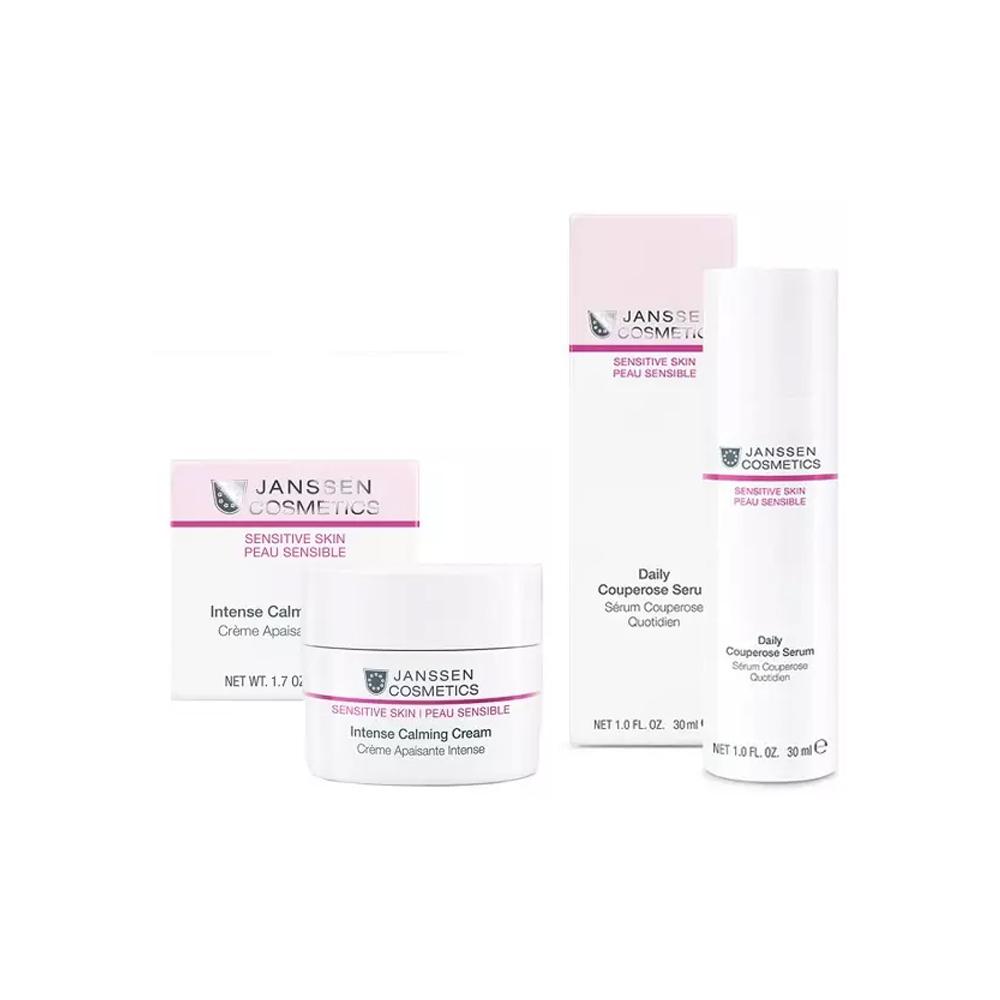 Купить Janssen Cosmetics Набор Интенсивная защита чувствительной кожи : крем 50 мл + концентрат 30 мл (Janssen Cosmetics, Sensitive Skin), Германия