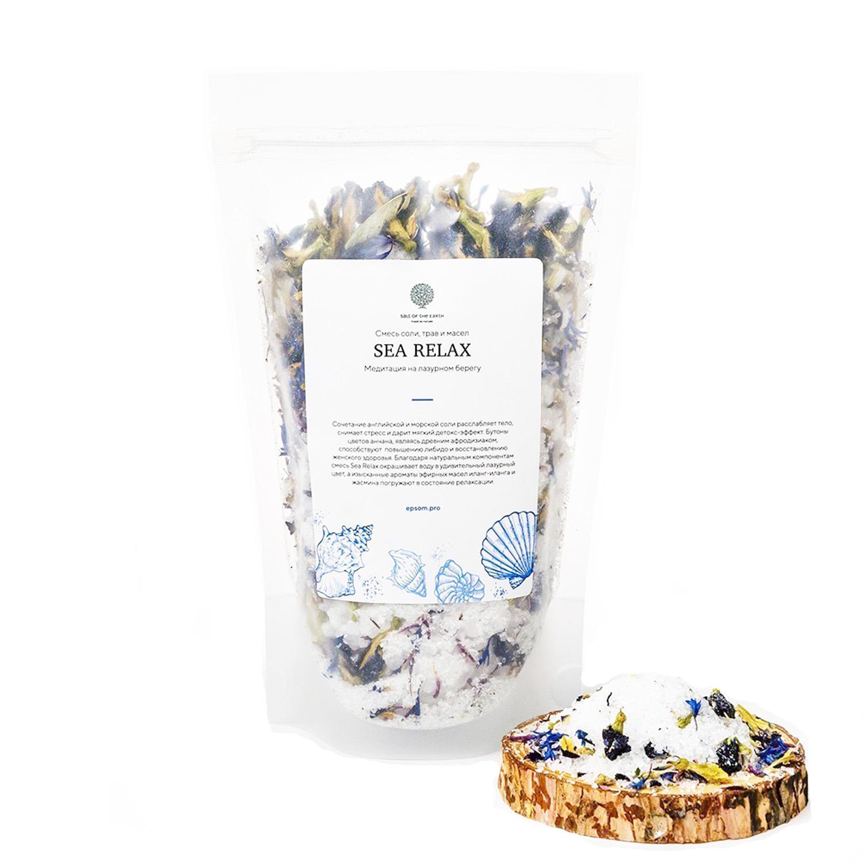 Купить Salt of the Earth Микс Sea Relax c травами и маслом для ванной, 400 г (Salt of the Earth, Для ванны), Россия