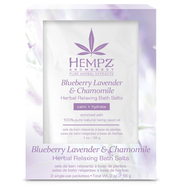 Купить Hempz Расслабляющая соль для ванны, 2 х 28 г (Hempz, Лаванда, ромашка и дикие ягоды), США