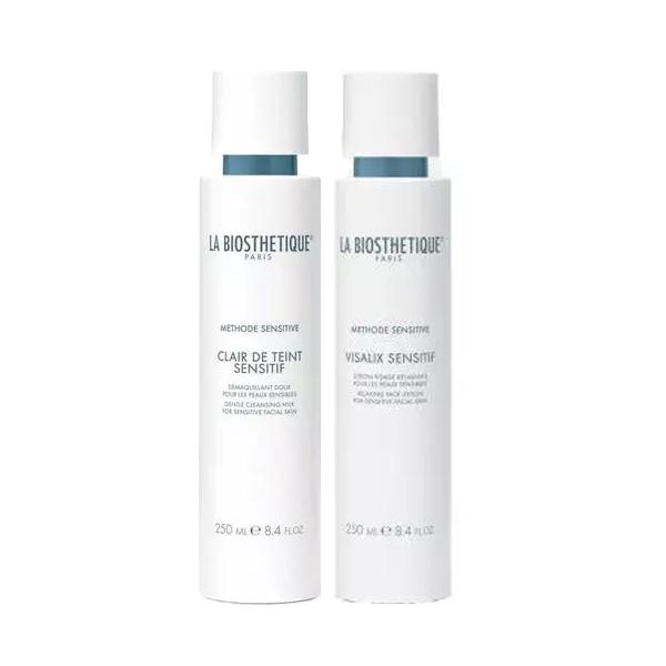 Купить La Biosthetique Кожа Набор Очищение чувствительной кожи : очищающее молочко 250 мл + тоник 250 мл (La Biosthetique Кожа, Methode Sensitive), Франция