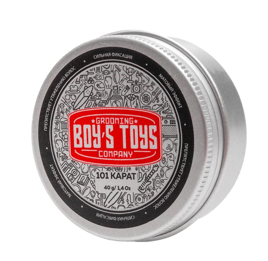 Boys Toys Паста для укладки волос высокой фиксации с низким уровнем блеска 101 Karat Strong Hold Matte Paste, 40 мл (Boys Toys, Стайлинг)
