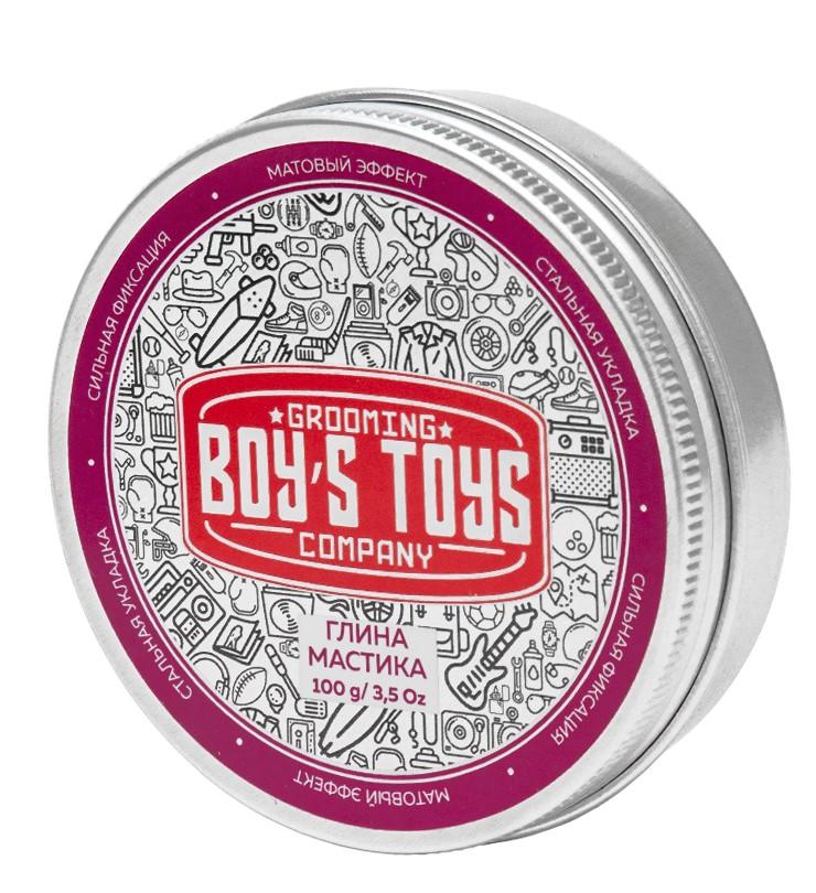 Boys Toys Глина для укладки волос высокой фиксации с низким уровнем блеска Strong Hold Clay Putty, 100 мл (Boys Toys, Стайлинг)