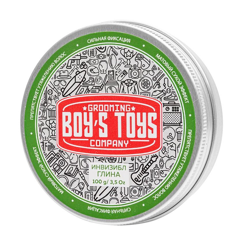Boys Toys Глина для укладки волос средней фиксации с низким уровнем блеска Invisible Forming Matte Clay, 100 мл (Boys Toys, Стайлинг)