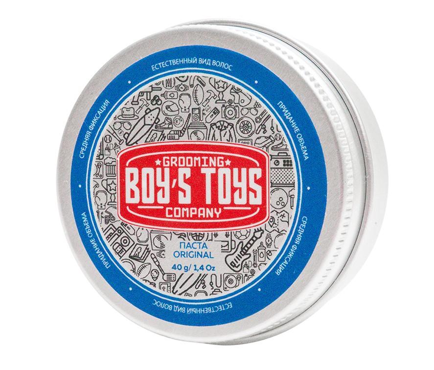 Boys Toys Паста для укладки волос средней фиксации с низким уровнем блеска Original Defining Matte Paste, 40 мл (Boys Toys, Стайлинг)