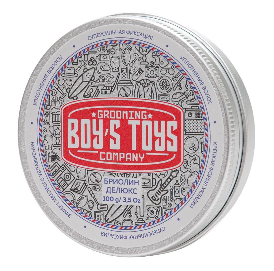 Boys Toys Бриолин для укладки волос сверх сильной фиксации со средним уровнем блеска Deluxe Oil Based Clay, 100 мл (Boys Toys, Стайлинг)
