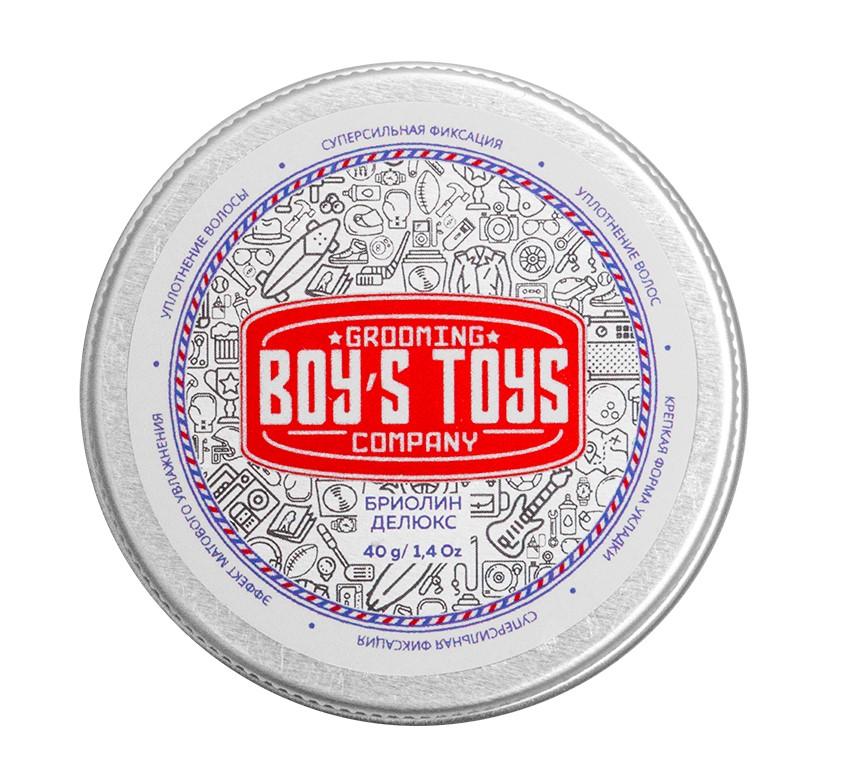 Boys Toys Бриолин для укладки волос сверх сильной фиксации со средним уровнем блеска Deluxe Oil Based Clay, 40 мл (Boys Toys, Стайлинг)