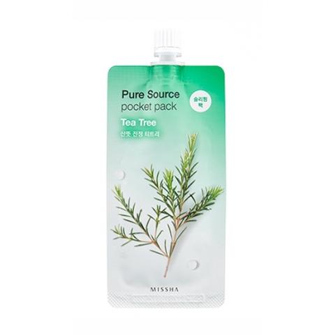 Купить Missha Увлажняющая маска для лица Pure Source Pocket Pack Tea Tree, 10 мл (Missha, Уход за лицом), Южная Корея