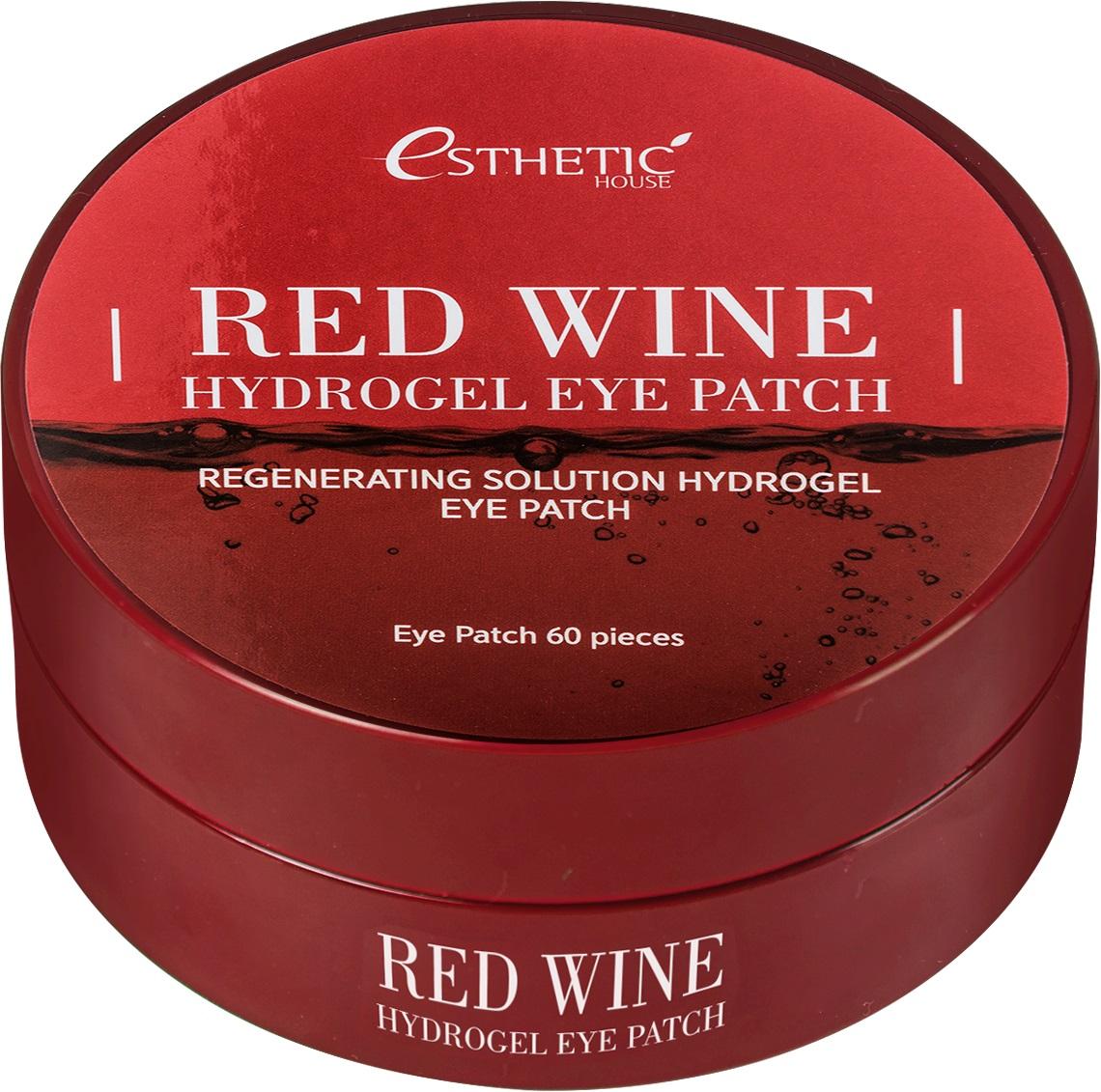 Купить Esthetic House Гидрогелевые патчи для глаз Красное вино , 60 шт (Esthetic House, Уход за областью вокруг глаз), Южная Корея