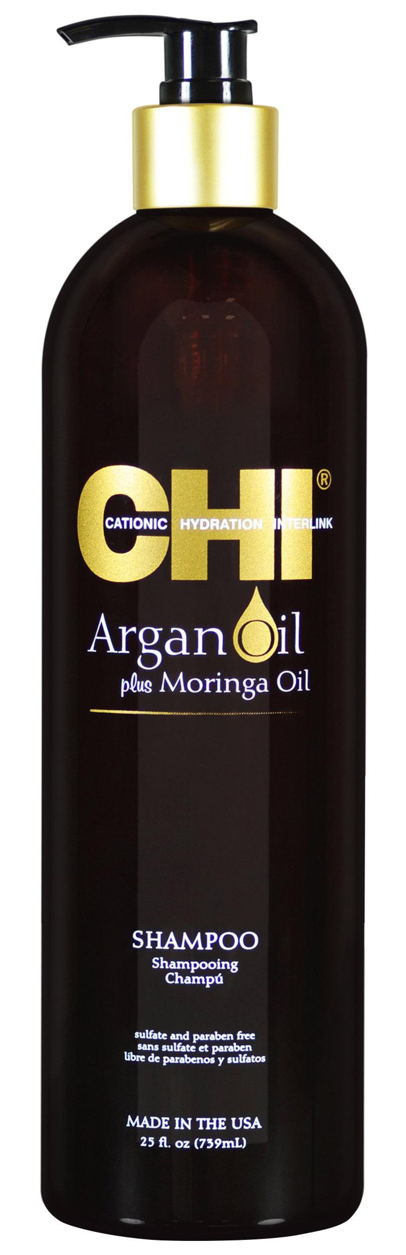 Купить Chi Шампунь с маслом арганы и маслом моринга, 739 мл (Chi, Argan Oil), США