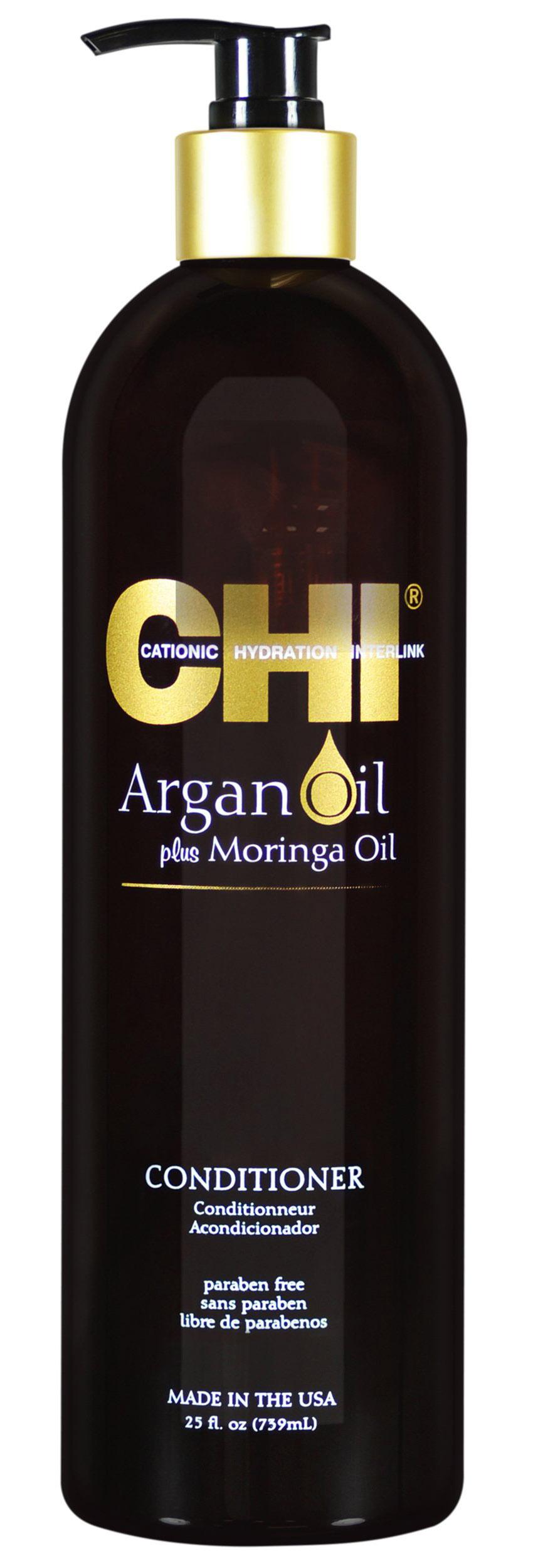 Купить Chi Кондиционер с маслом арганы и маслом моринга, 739 мл (Chi, Argan Oil), США
