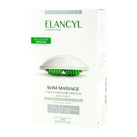 Elancyl Элансиль Гель-концентрат 200 мл для антицеллюлитного массажа с массажером (Elancyl, Cellu Slim)