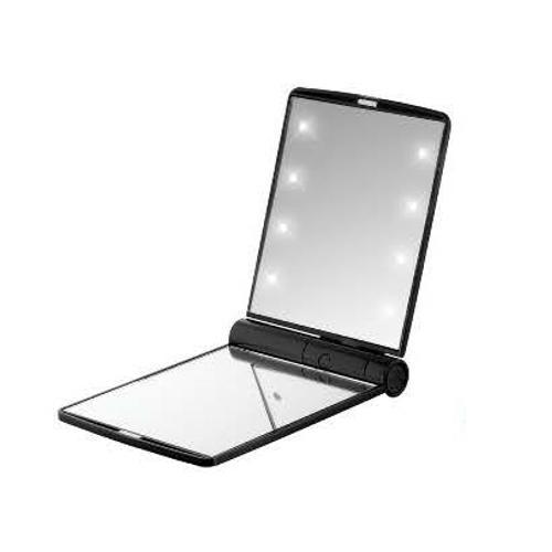 Зеркало FLO с LED-подсветкой 2х-кратное увеличение Черное, 1 шт. (LED Mirror)