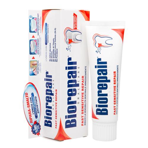 Зубная паста для мгновенного снижения чувствитвительности 75 мл (Biorepair, Чувствительные зубы)