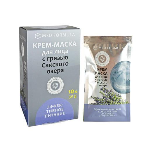 """Дом природы Крем-маска """"Эффективное питание"""" для сухой кожи 30 гр х 10 шт (Дом природы, Маски на основе грязи Сакского озера)"""