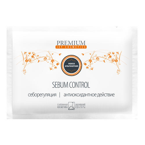 Маска альгинатная Sebum control, 1шт (Premium, Jet cosmetics) маска альгинатная супер увлажняющая 1шт premium jet cosmetics