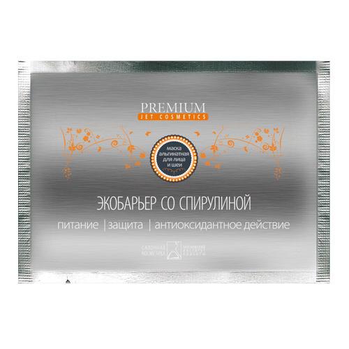 Маска альгинатная Экобарьер, 1шт (Premium, Jet cosmetics) premium jet cosmetics маска суперальгинатная биоплацентарное омоложение с гиалуроновой кислотой 20 г и 60 мл