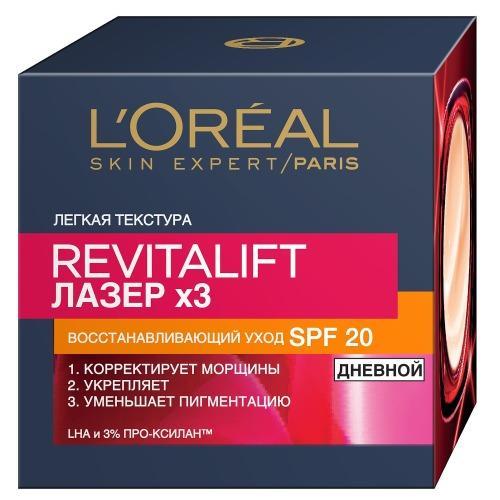 Купить L'Oreal Лазер 3 крем дневной для лица восстанавливающий 50 мл (L'Oreal, Revitalift), Франция