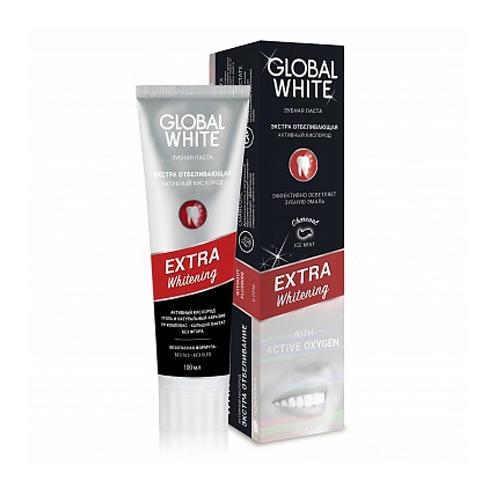 Global white Зубная паста Экстра отбеливание, активный кислород 100 мл (Зубные пасты)