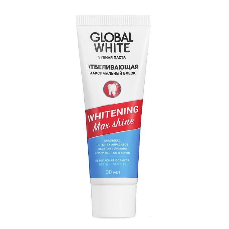 Global White Отбеливающая зубная паста Max Shine, 30 мл (Global White, Зубные пасты) недорого