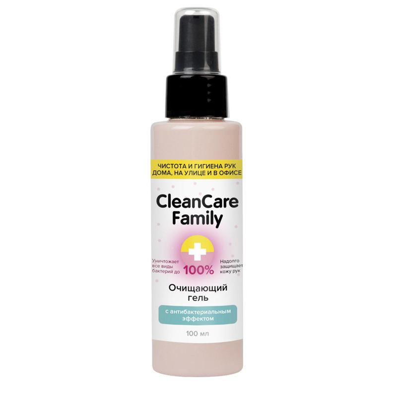 Cleancare family Очищающий гель-антисептик с антибактериальным эффектом 100 мл (Cleancare family, Антибактериальные средства)