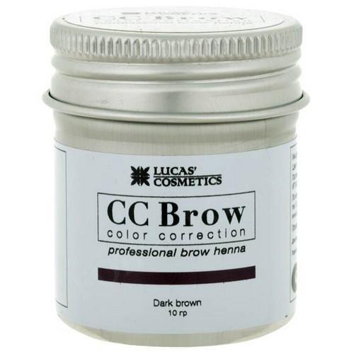 CC Brow Хна для бровей в баночке (темно-коричневый) 10 г НОВИНКА (CC Brow, Для лица)
