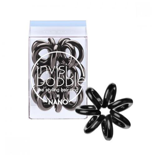 Резинка для волос NanoTrue Black 3 шт. (Invisibobble, Nano) резинка для волос nano to be or nude to be 3 шт invisibobble nano