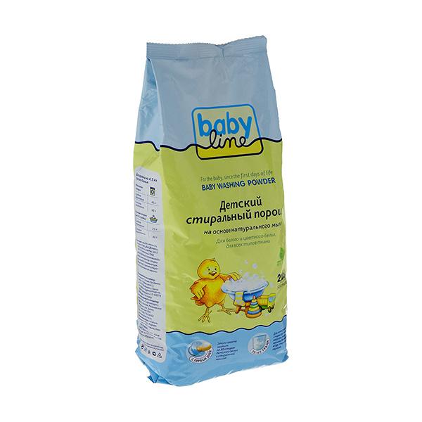 Детский стиральный порошок 2250 г (Baby line, Безопасная детская бытовая химия) babyline baby powdered detergent стиральный порошок детский на основе натурального мыла 2250 г
