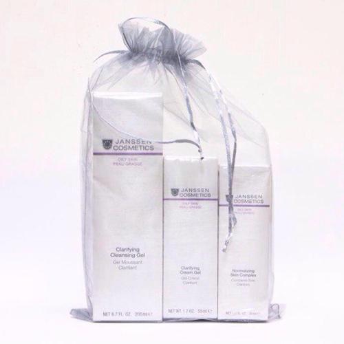 Janssen Набор Oily skin: Очищающий гель 200мл+Себорегулирующий крем-гель 50мл+Нормализующий концентрат 30мл (Oily skin)