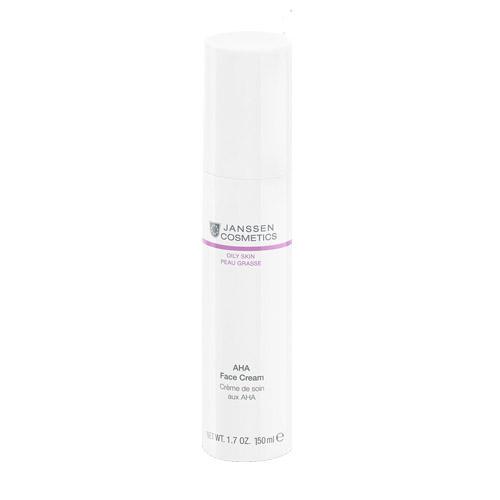 AHA face cream Легкий активный крем с фруктовыми кислотами для жирной кожи 150 мл (Janssen, Oily skin)