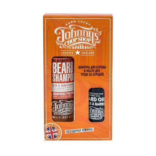 Набор Шампунь для бороды 100 мл Масло для ухода за бородой 30 мл (Johnnys Chop Shop, Groom)