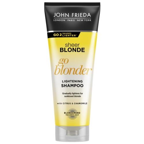 Купить John Frieda Шампунь Blonde Go Blonder осветляющий для натуральных, мелированных и окрашенных волос 250 мл (John Frieda, Sheer Blonde), Великобритания