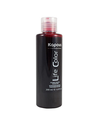Оттеночный шампунь для волос Life Color Гранатовый красный 200 мл (Kapous Professional, Life Color)