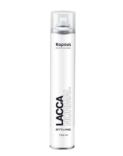 Kapous Professional Лак аэрозольный для волос нормальной фиксации, 750 мл (Kapous Professional, Средства для укладки) kapous professional аэрозольный лак для волос нормальной фиксации 100 мл kapous professional средства для укладки