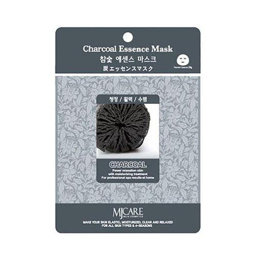 Тканевая маска древесный уголь Charcoal Essence Mask Mijin 23 г (MjCare)