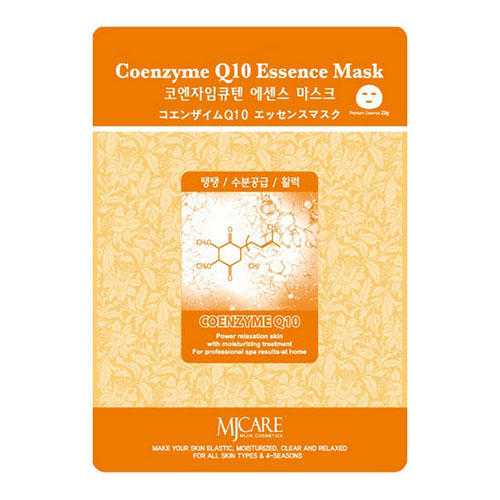 Тканевая маска коэнзим MJ Care Coenzyme Q10 Essence Mask Mijin 23 г (Mijin, MjCare)