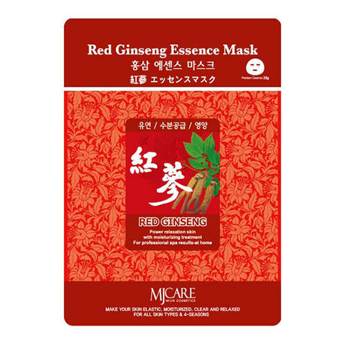 Тканевая маска красный женьшень Red Ginseng Essence Mask Mijin 23 г (MjCare)