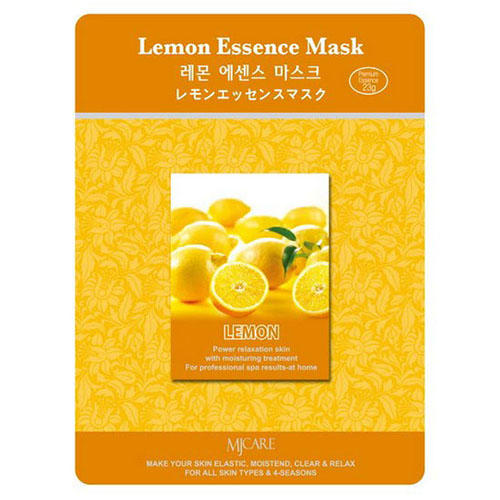 Тканевая маска лимон Lemon Essence Mask Mijin 23 г (MjCare)