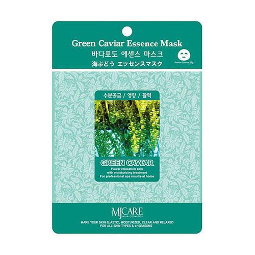 Тканевая маска морской виноград Green Caviar Essence Mask Mijin 23 г (MjCare)