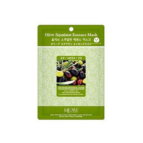 Тканевая маска олива Olive Squalane Essence Mask Mijin 23 г (MjCare)