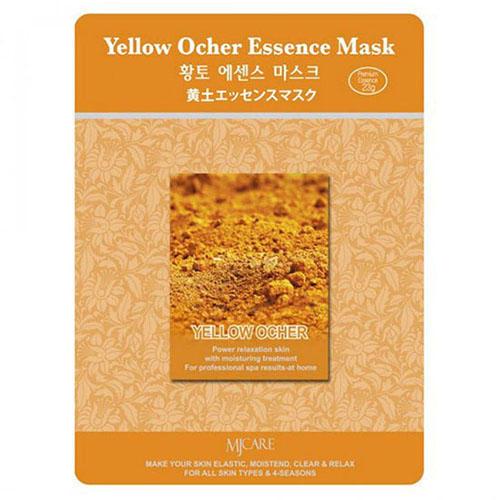 Тканевая маска охра Yellow Ocher Essence Mask Mijin 23 г (MjCare)