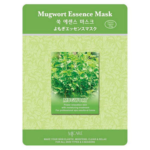 Тканевая маска полынь Mugwort Essence Mask Mijin 23 г (MjCare)