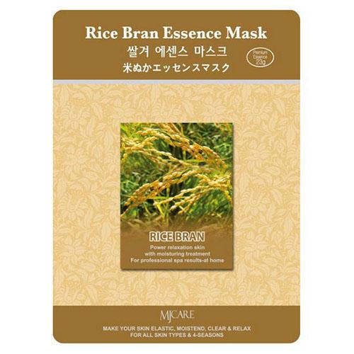 Тканевая маска рисовые отруби Rice Bran Essence Mask Mijin 23 г (MjCare)
